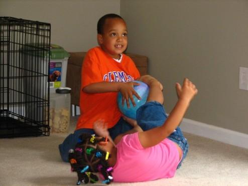 Jazia and Darius Playing